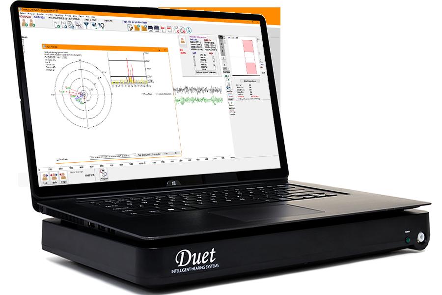 Duet platform with computer showing SmartEP-ASSR window