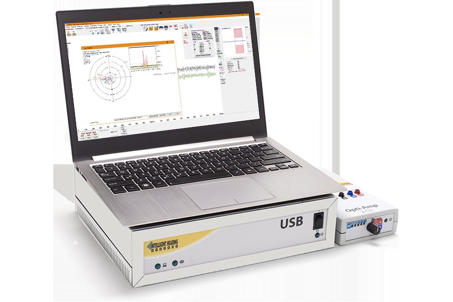 USB platform with computer showing SmartEP-ASSR window