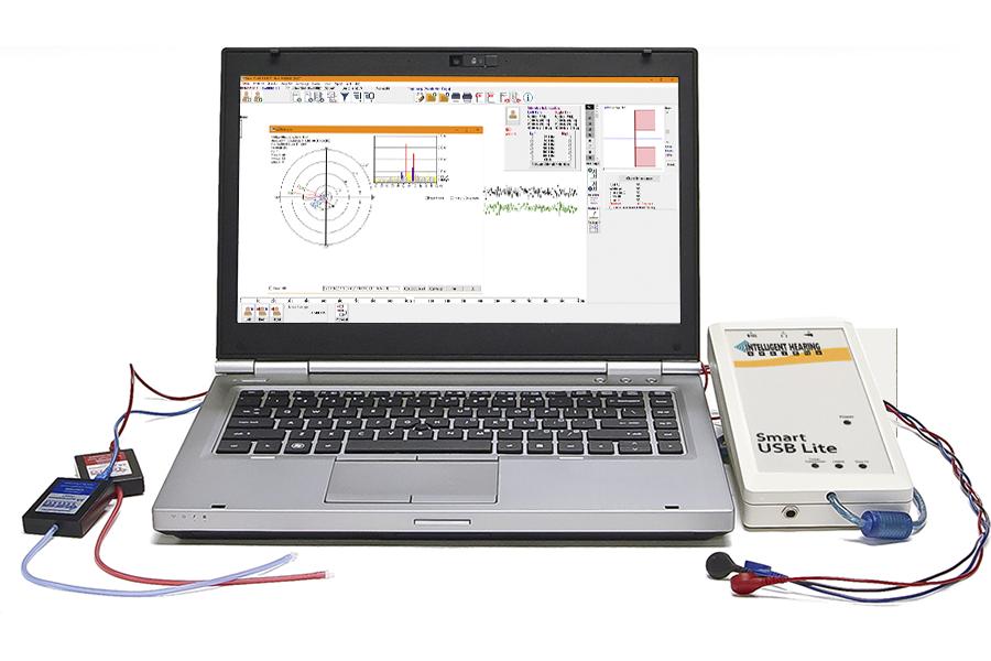 USBLite platform with computer showing SmartEP-ASSR window
